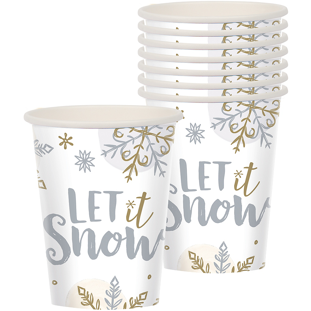 Nav Item for Sparkling Snowflake Cups 8ct Image #1
