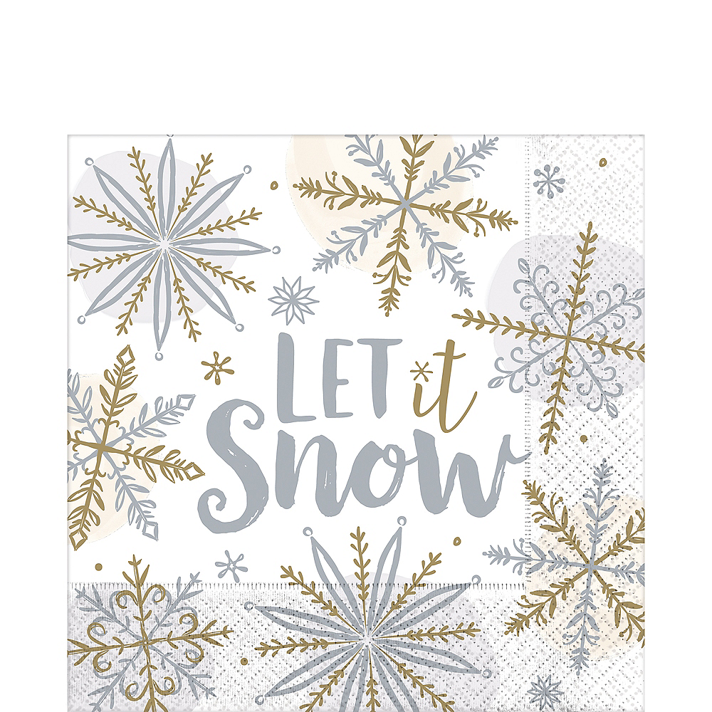 Nav Item for Sparkling Snowflake Lunch Napkins 16ct Image #1