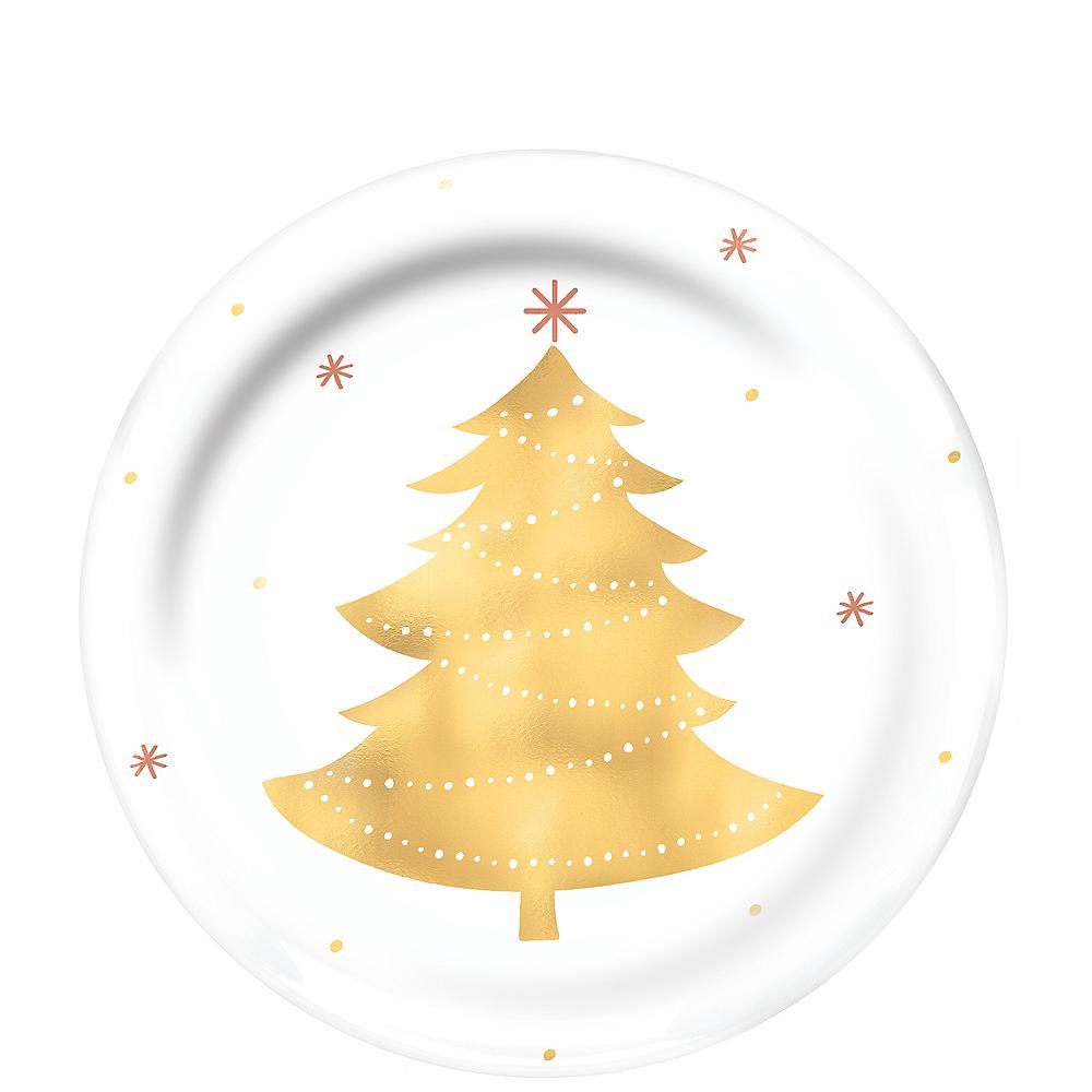 Gold Tree Premium Plastic Lunch Plates 4ct Image #1