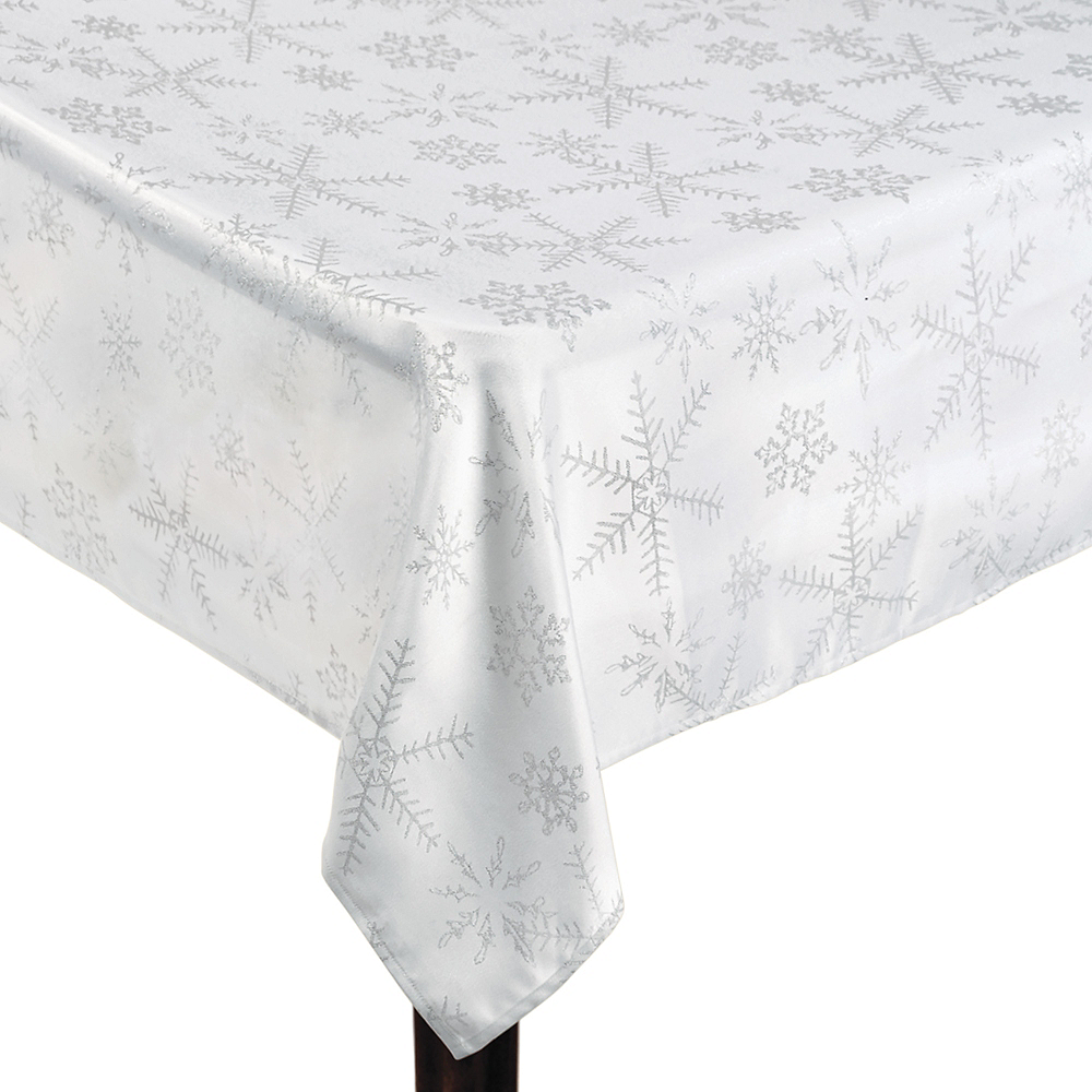 Snowflake Fabric Tablecloth Image #1