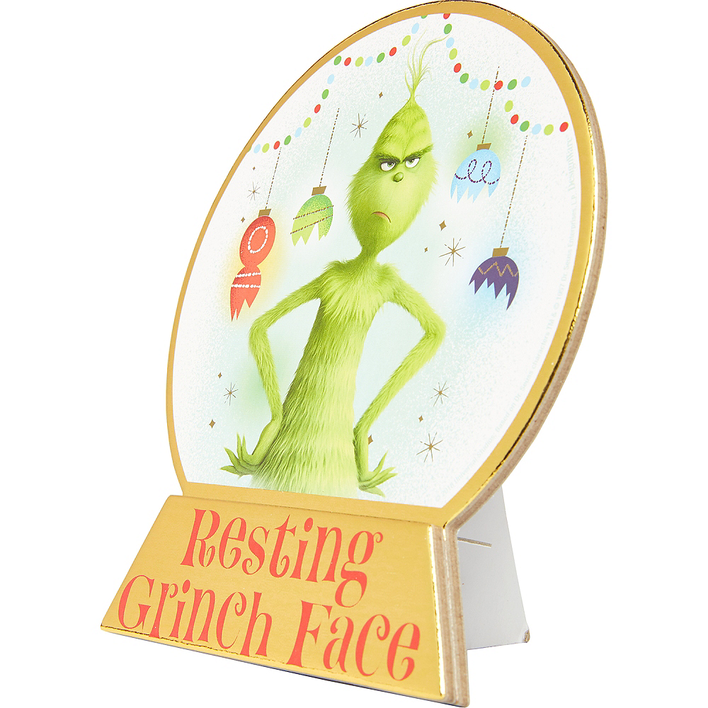Mini Resting Grinch Face Standing Sign Image #2