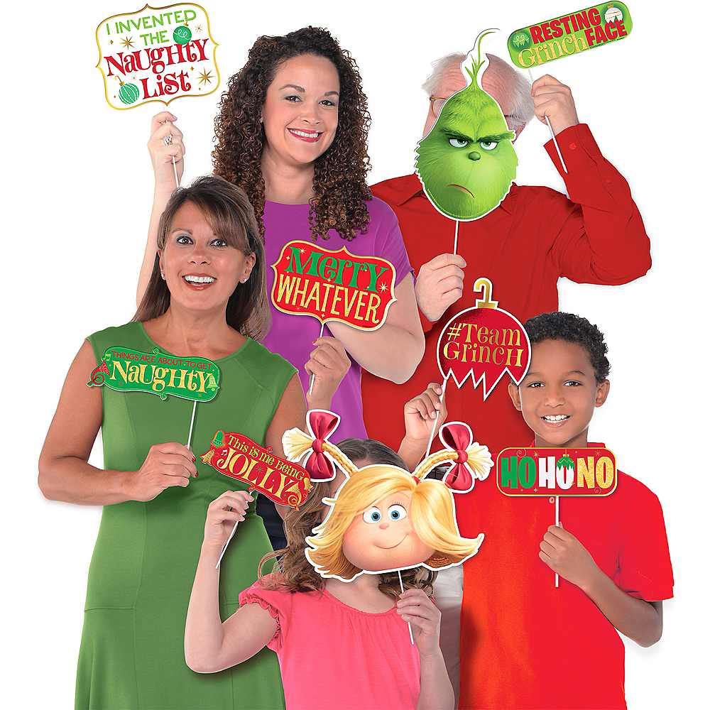 The Grinch Photo Booth Props 13ct Image #1