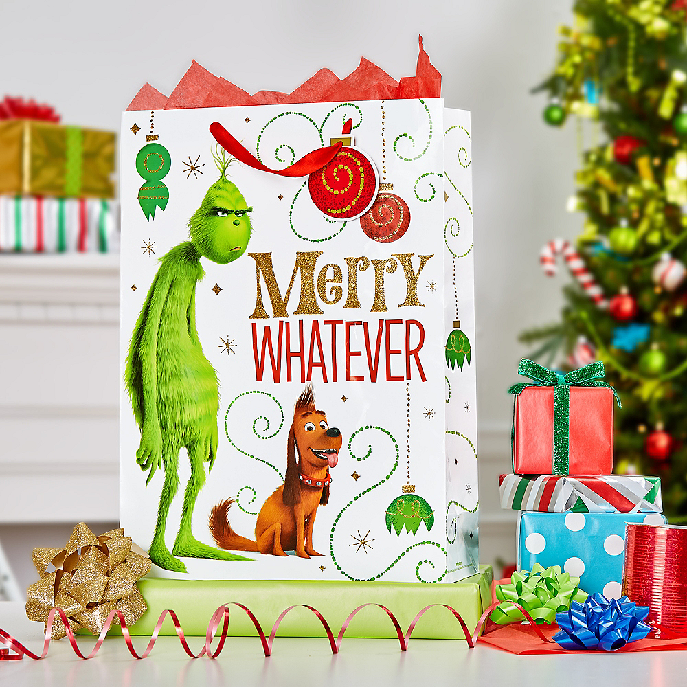 Giant Grinch Merry Whatever Gift Bag Image #2