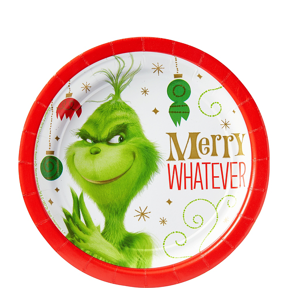 Grinch Merry Whatever Dessert Plates 8ct Image #1