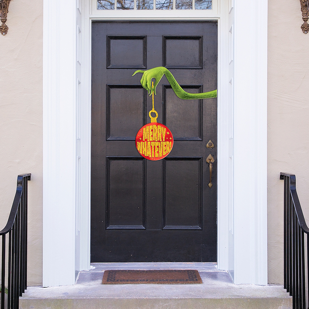 The Grinch Merry Whatever Door Decoration 2pc Image #1