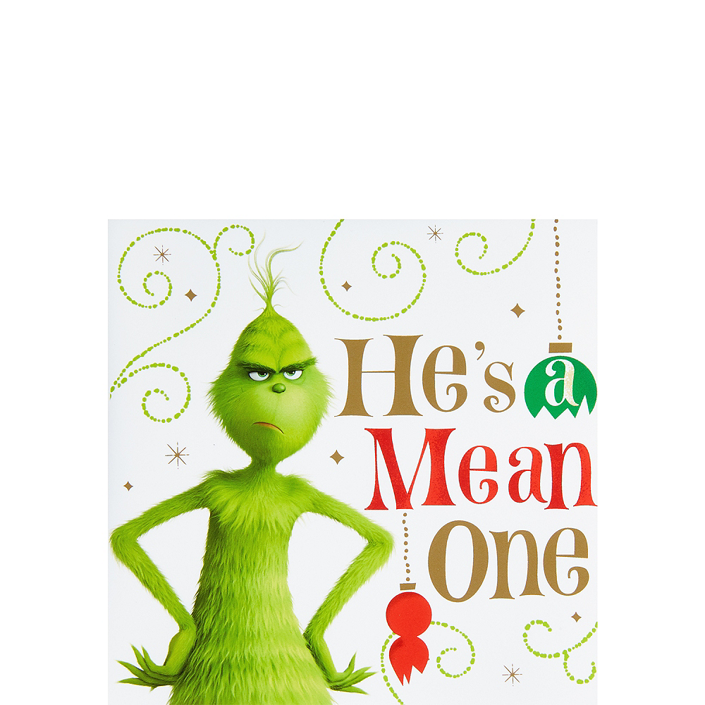 Nav Item for Grinch He's a Mean One Beverage Napkins 16ct Image #1