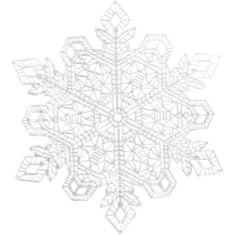 Metallic Silver Snowflake Vinyl Placemat Image #1