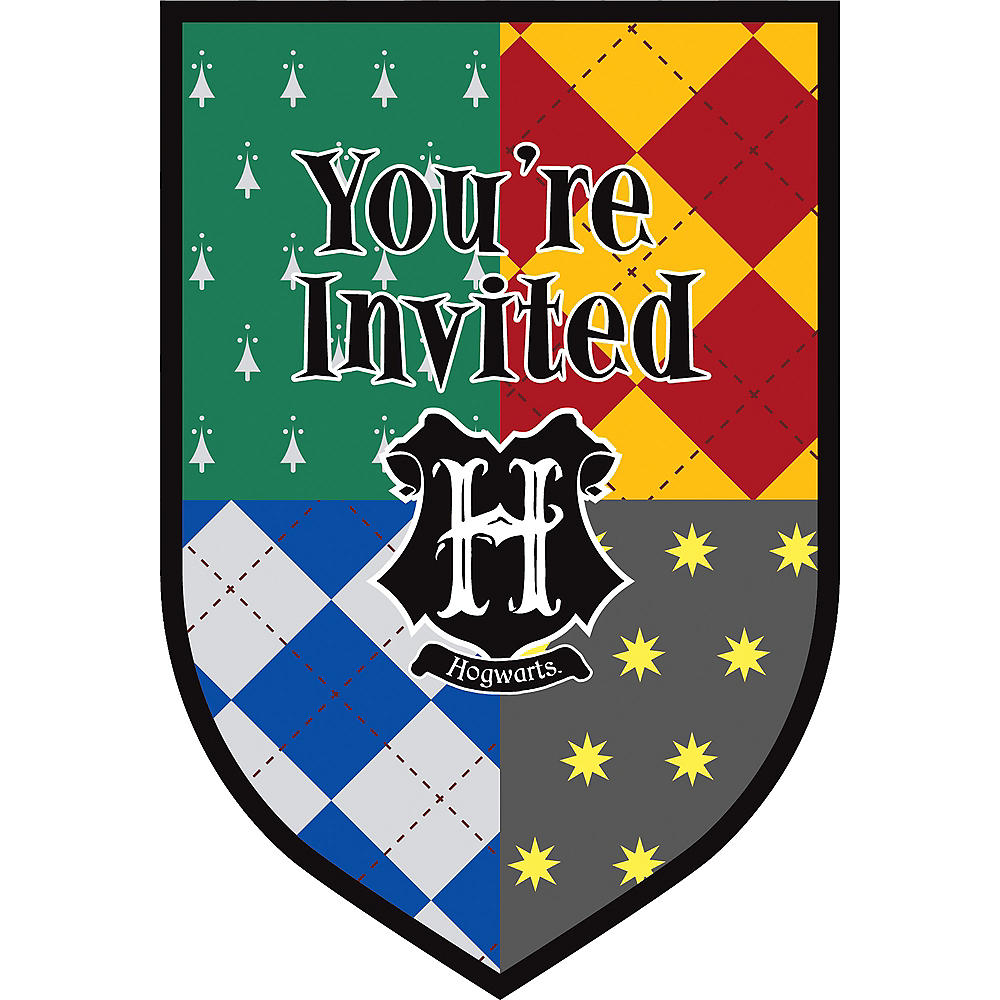 Harry Potter Invitations 8ct Image #1