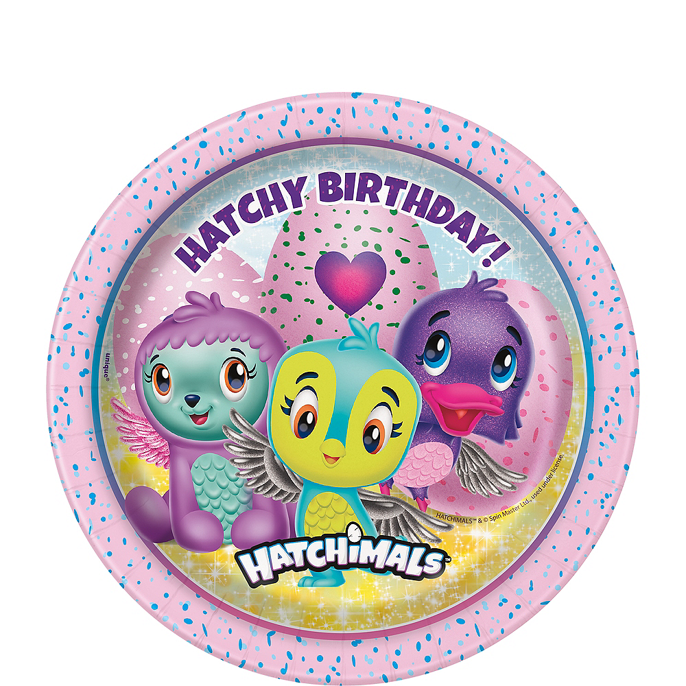 Hatchimals Birthday Dessert Plates 8ct Image 1