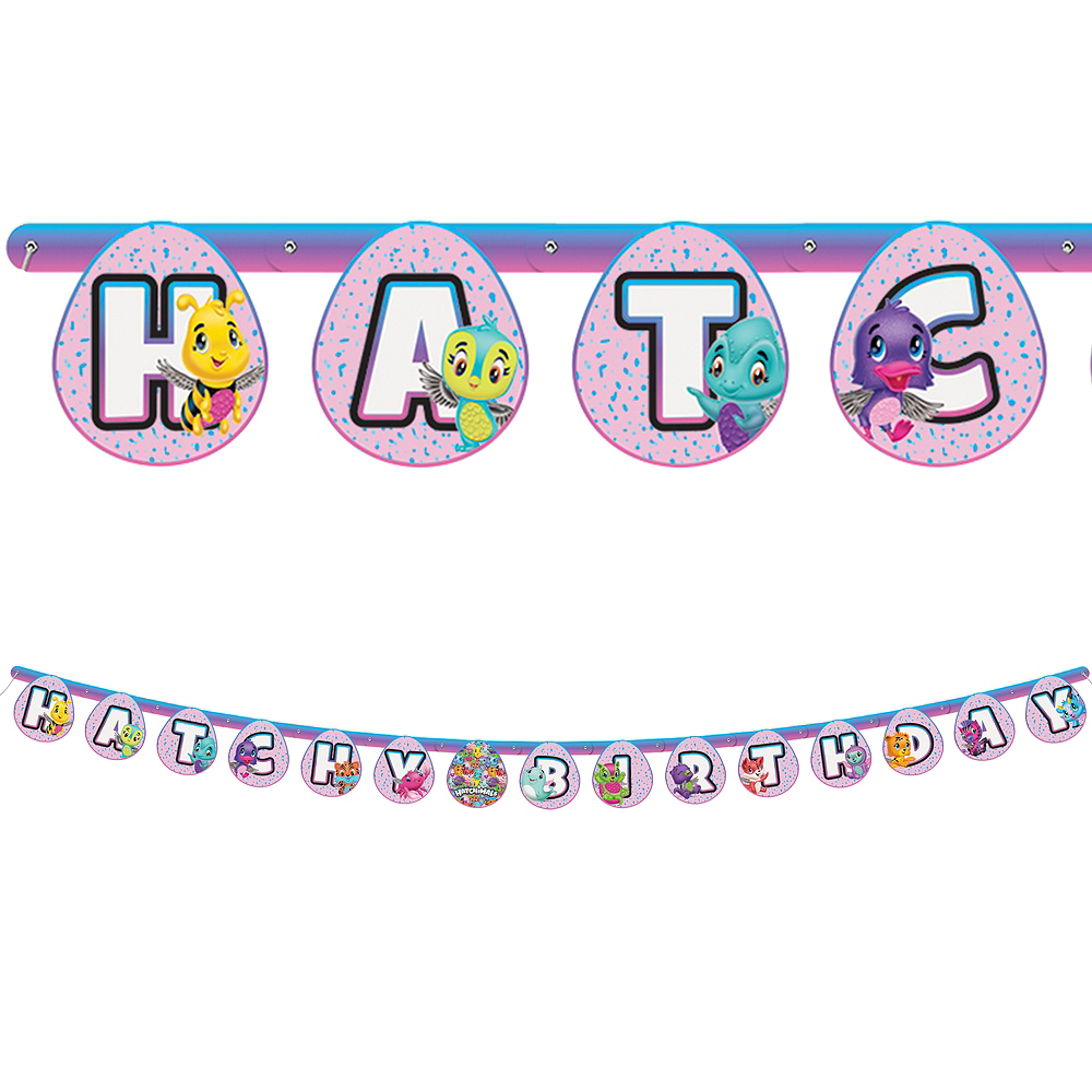 Hatchimals Birthday Banner 6 1 2ft X 5in