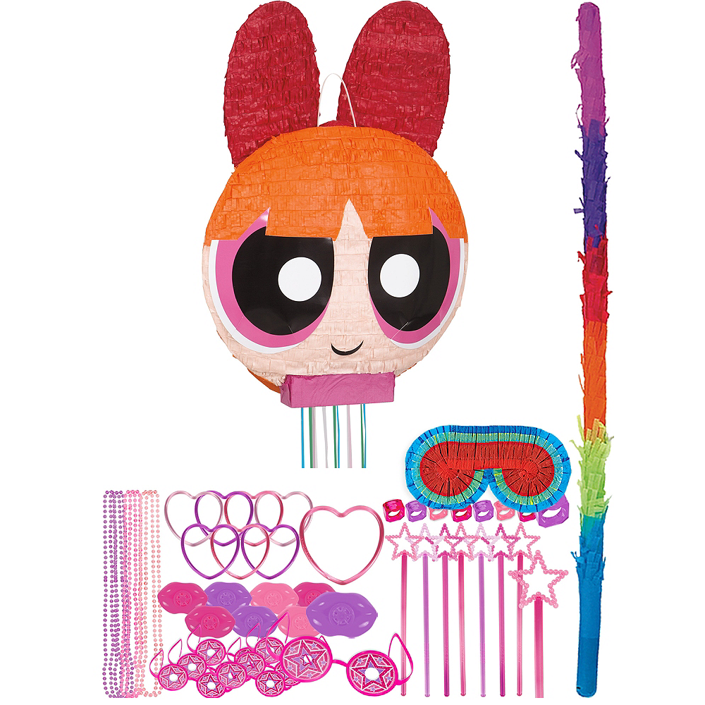 Blossom Pinata Kit with Favors - The Powerpuff Girls Image #1