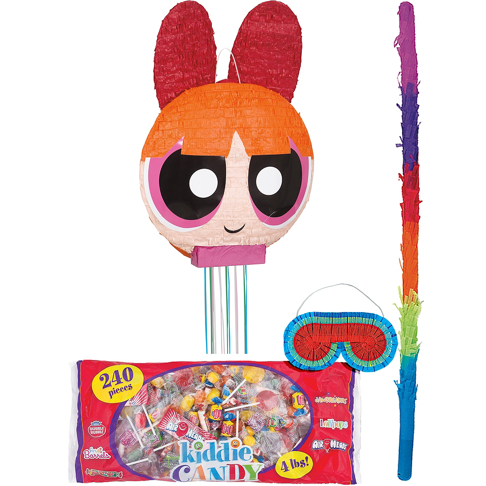 Powerpuff Girls Blossom Shy: Pull String Blossom Pinata Kit 15in X 22 1/2in
