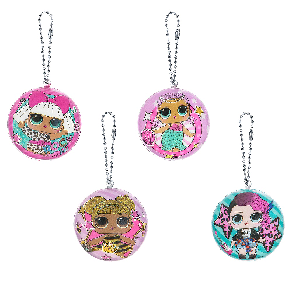 L.O.L. Surprise! Squishy Keychains 4ct Image #1