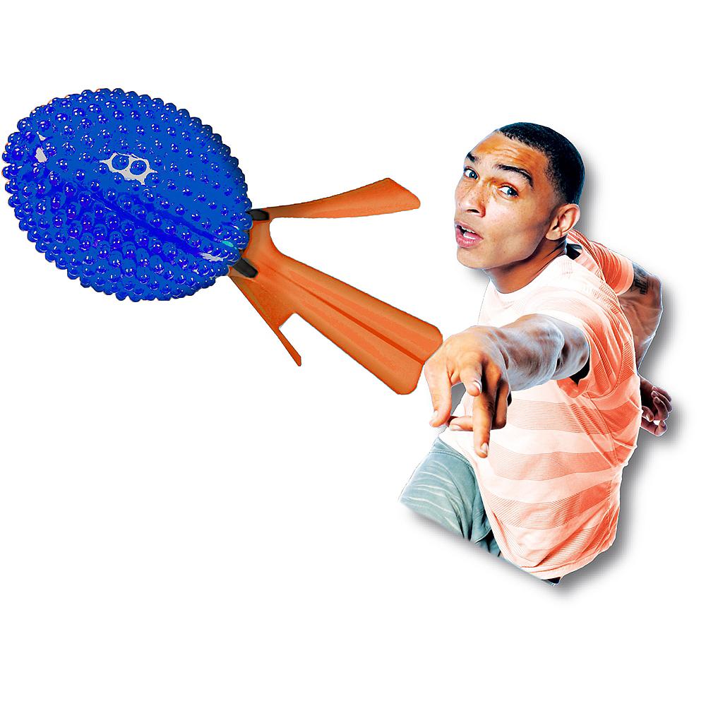 Blue & Orange Light-Up Rocket Ball Image #2