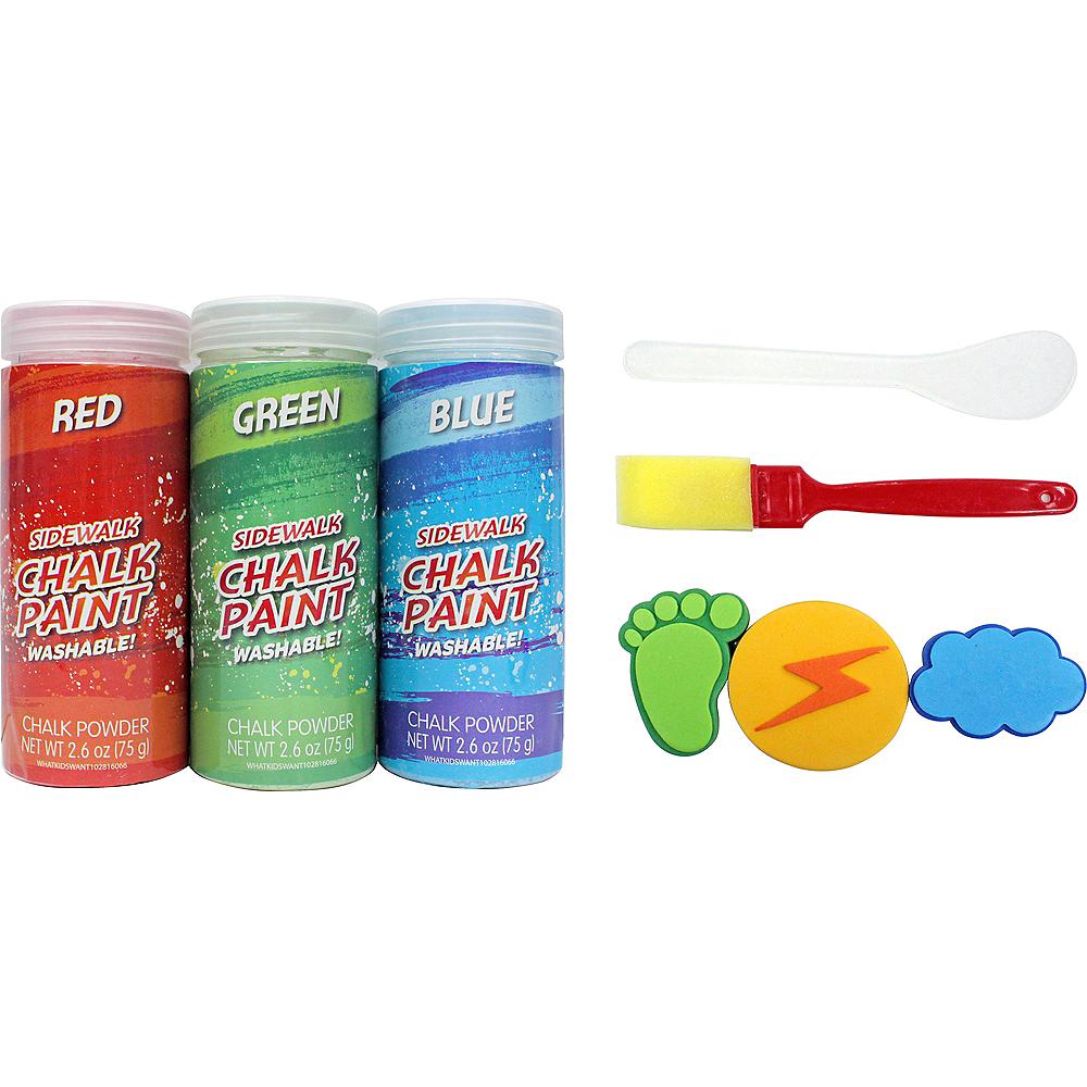 Blue, Green & Red Sidewalk Chalk Paint Set 8pc Image #1