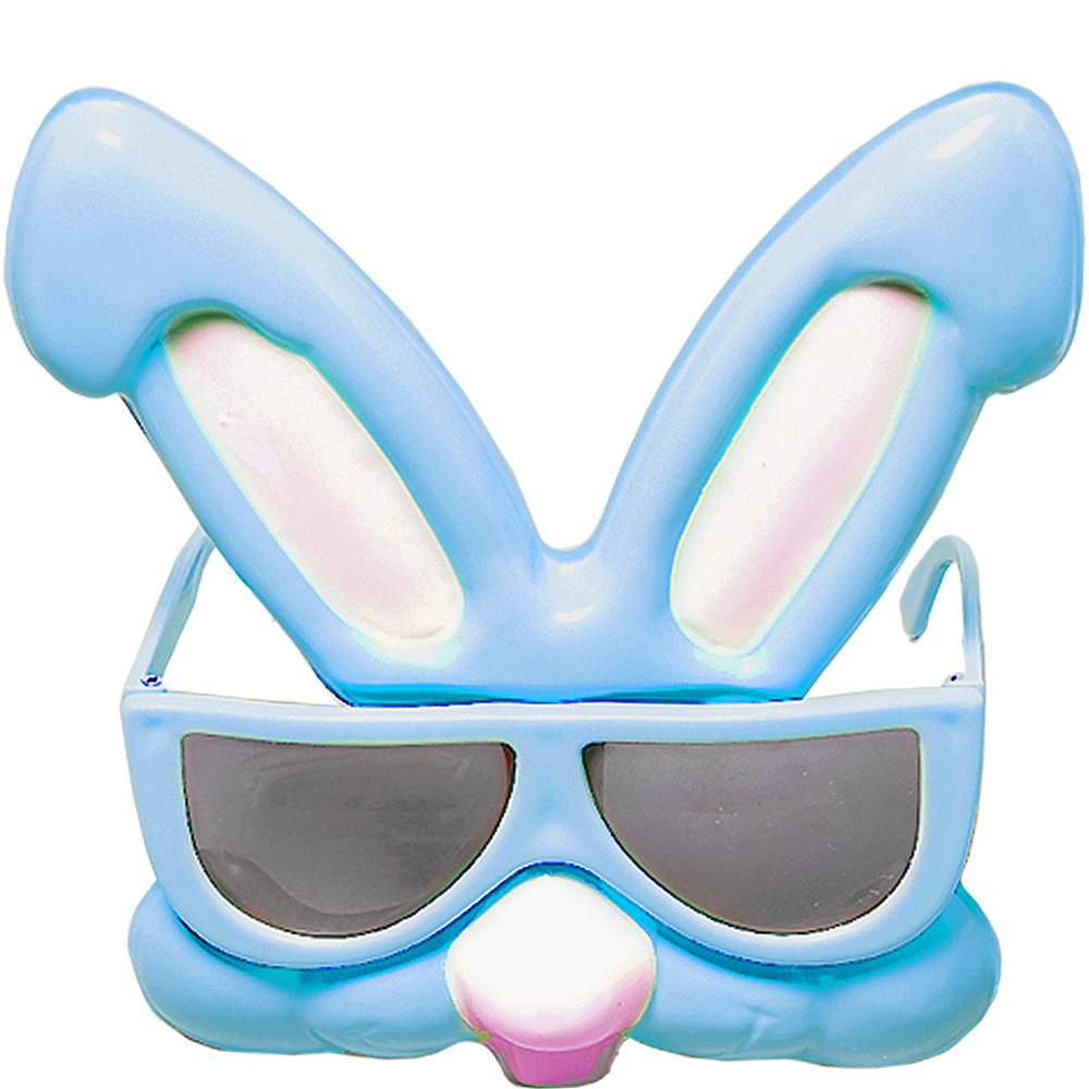 Child Blue Easter Bunny Sunglasses Image #1