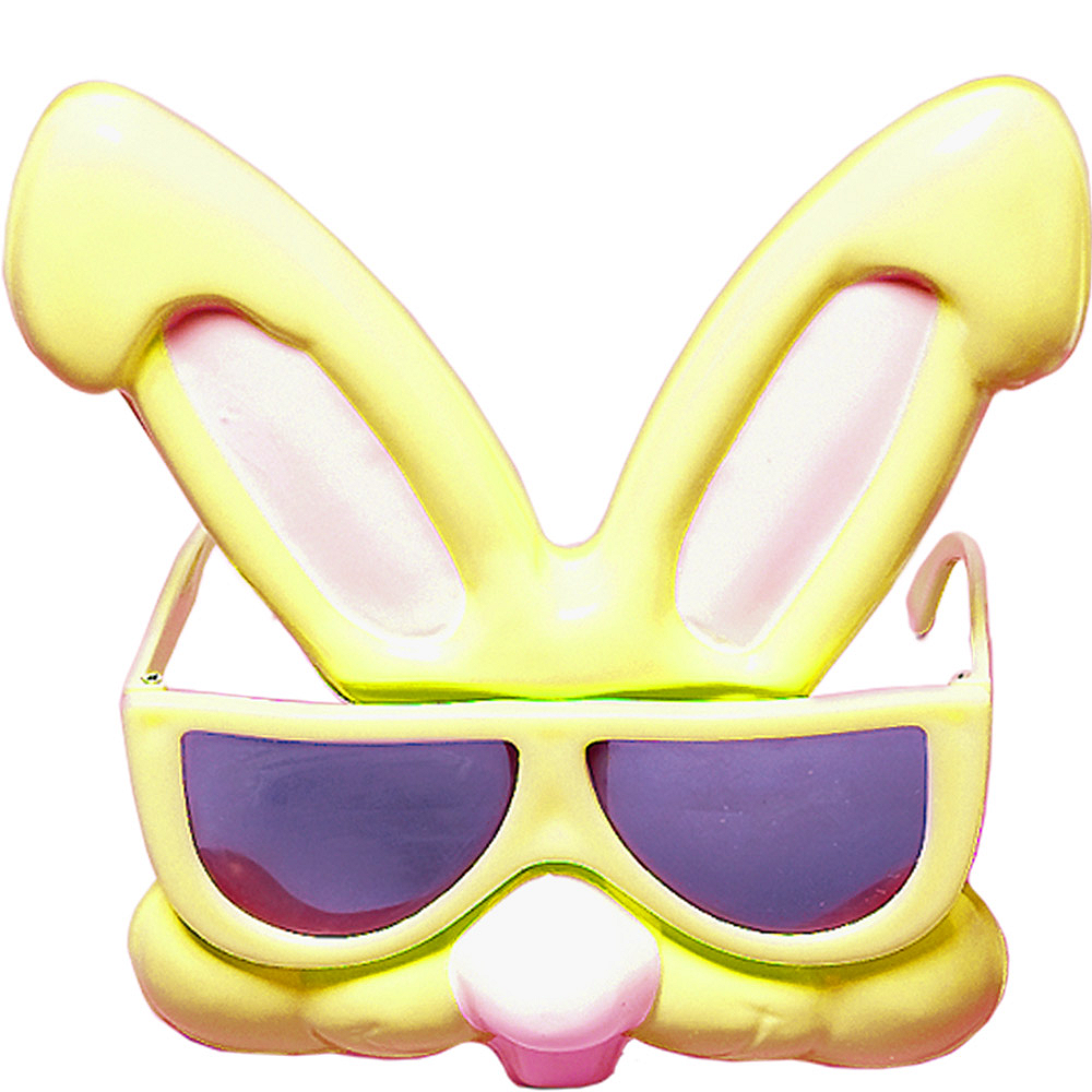 Child Yellow Easter Bunny Sunglasses Image #1