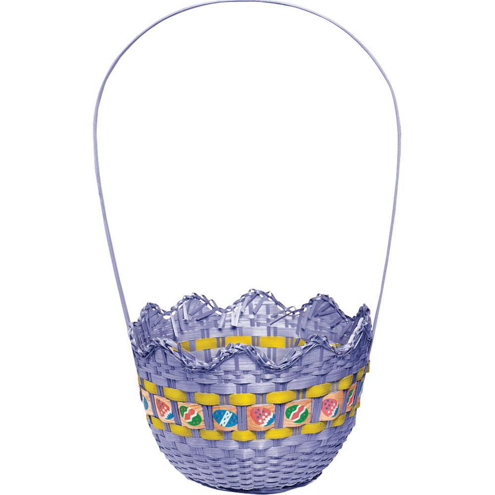 Striped Purple Easter Basket Image #1