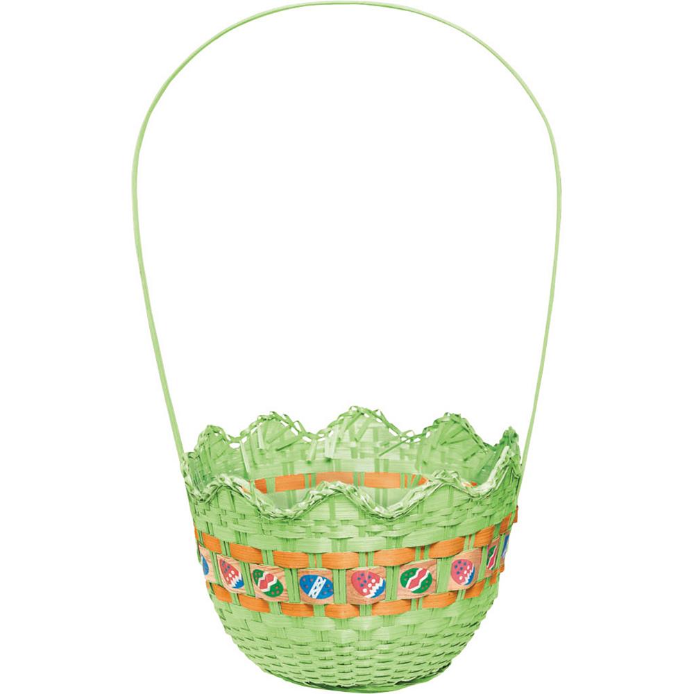 Striped Green Easter Basket Image #1