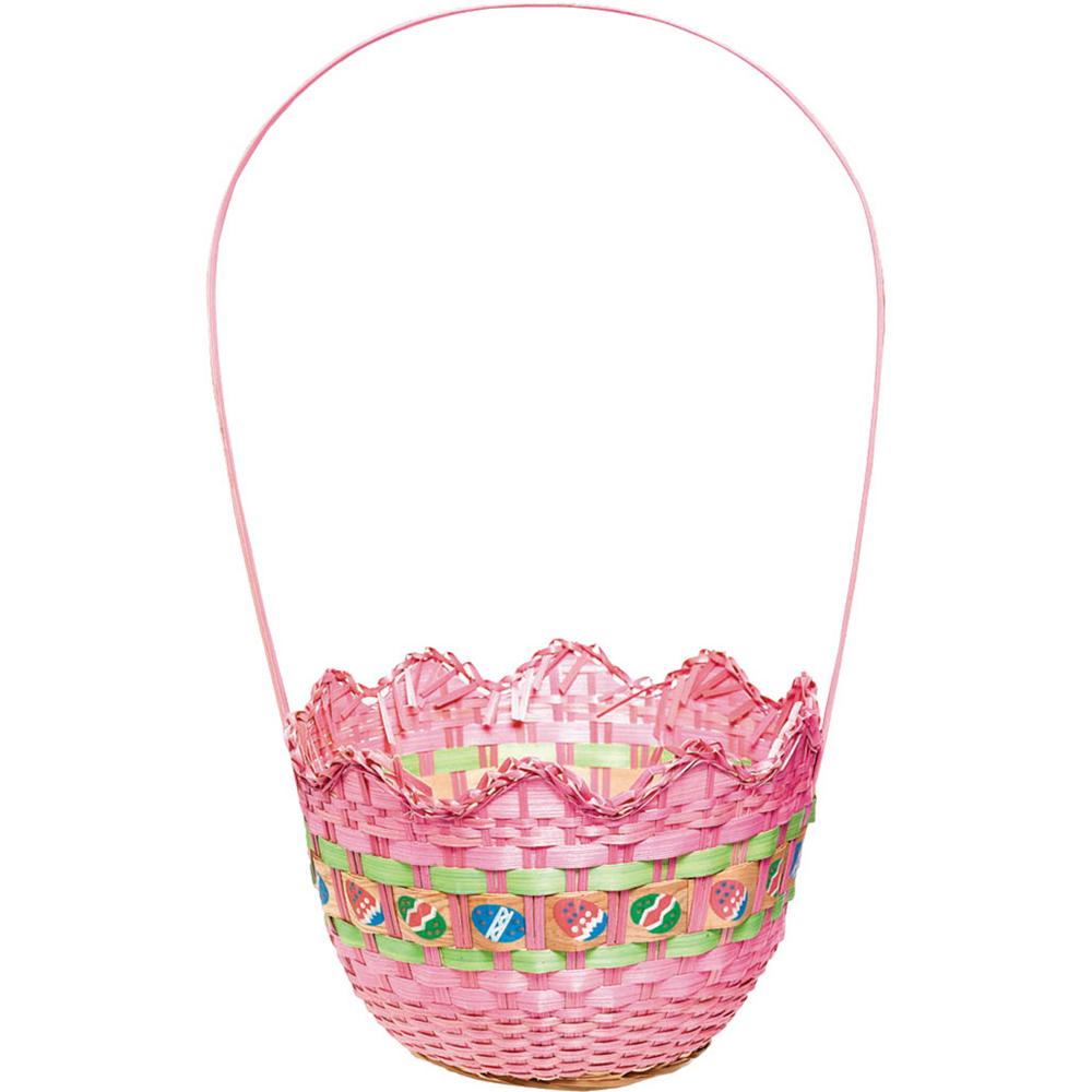 Striped Pink Easter Basket Image #1