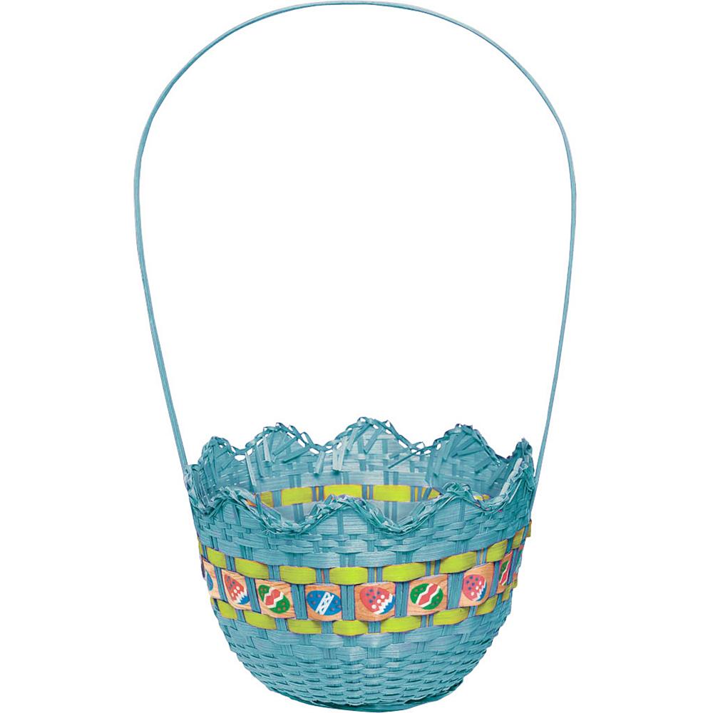 Striped Blue Easter Basket Image #1
