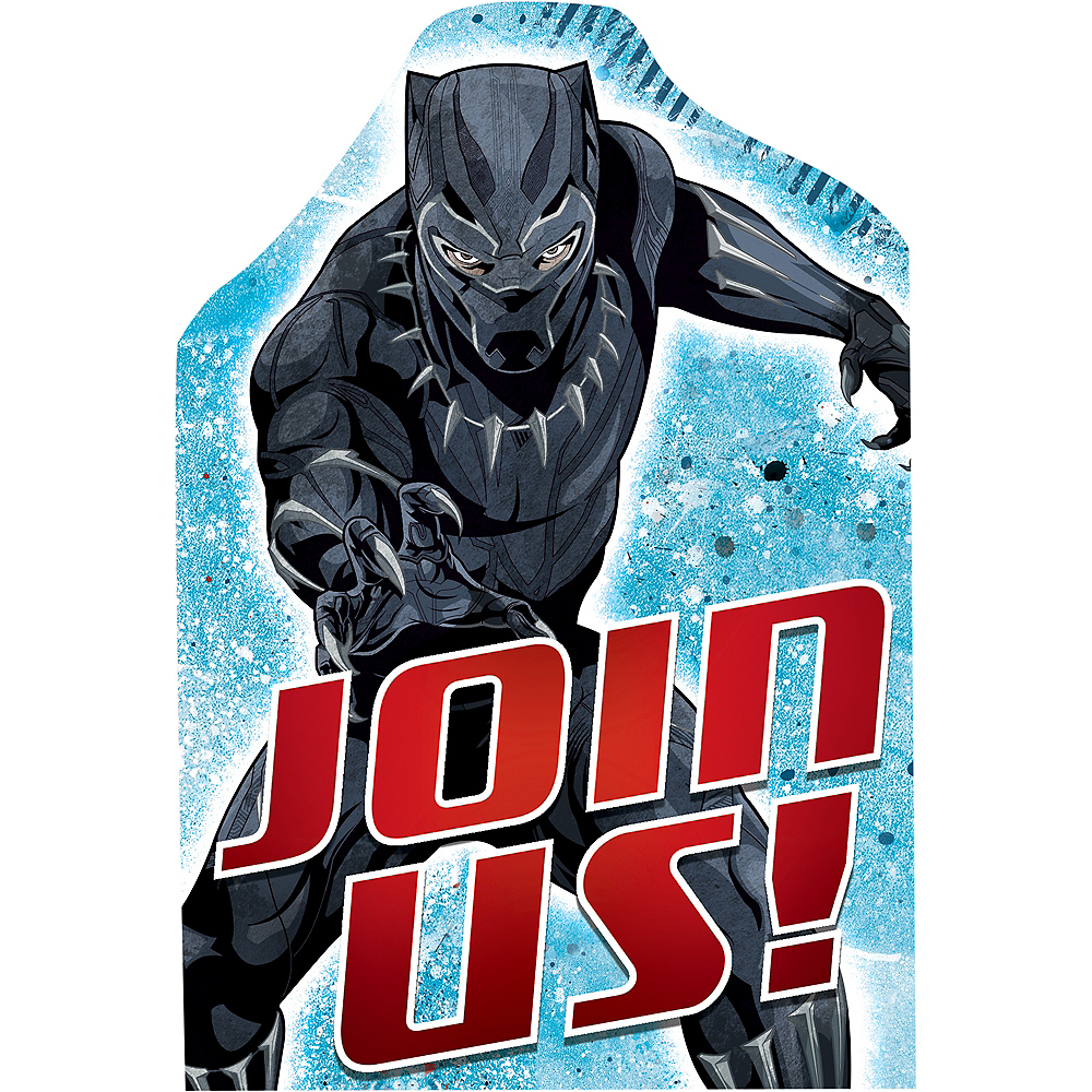Black Panther Invitations 8ct Image #1