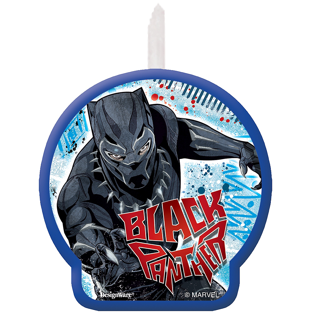 Black Panther Birthday Candle Image #1