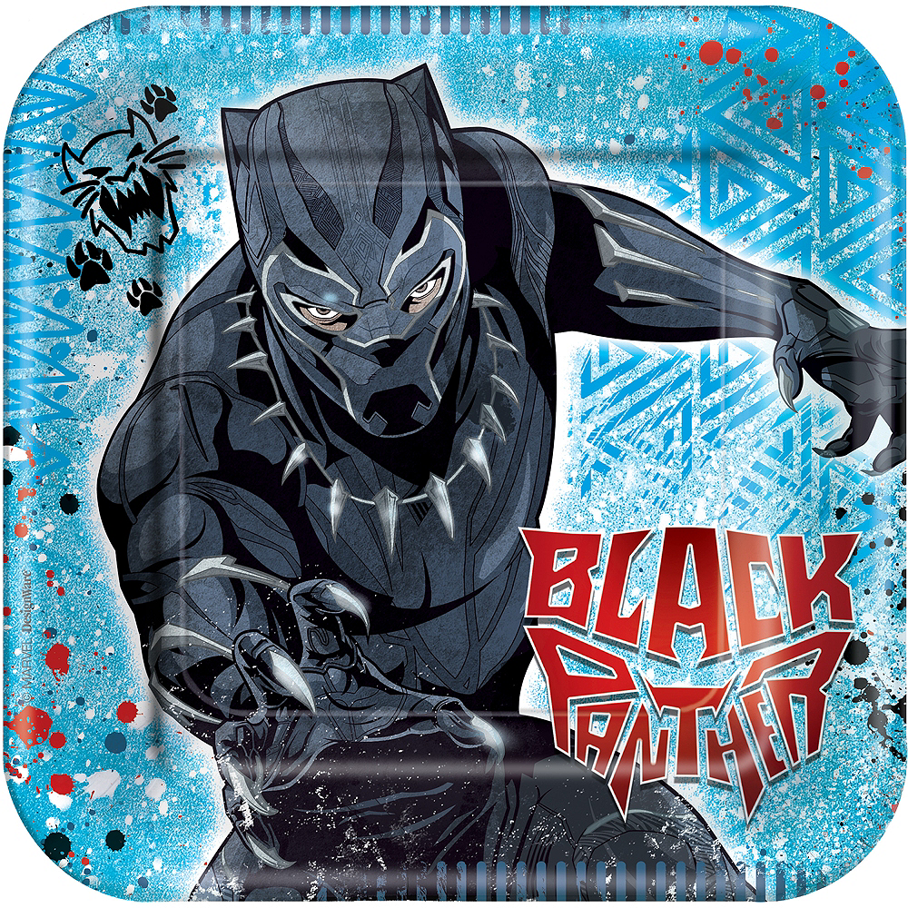Nav Item for Black Panther Lunch Plates 8ct Image #1