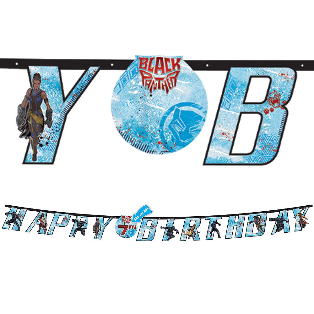 Black Panther Birthday Banner Kit Image #1