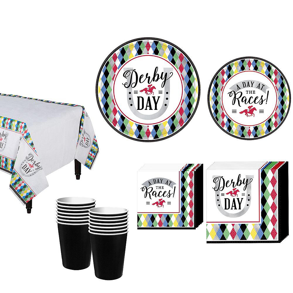 Kentucky Derby Tableware Kit for 8 Guests Image #1