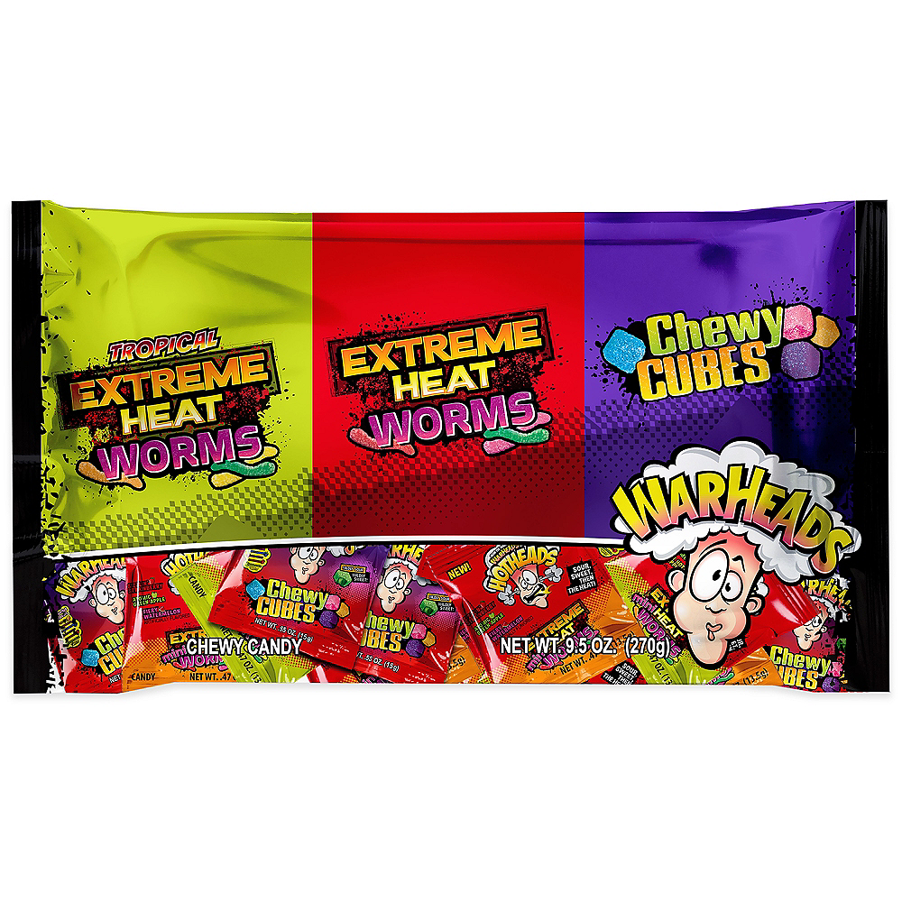 Nav Item for Warheads Chewy Candy Variety Pack 18ct Image #1