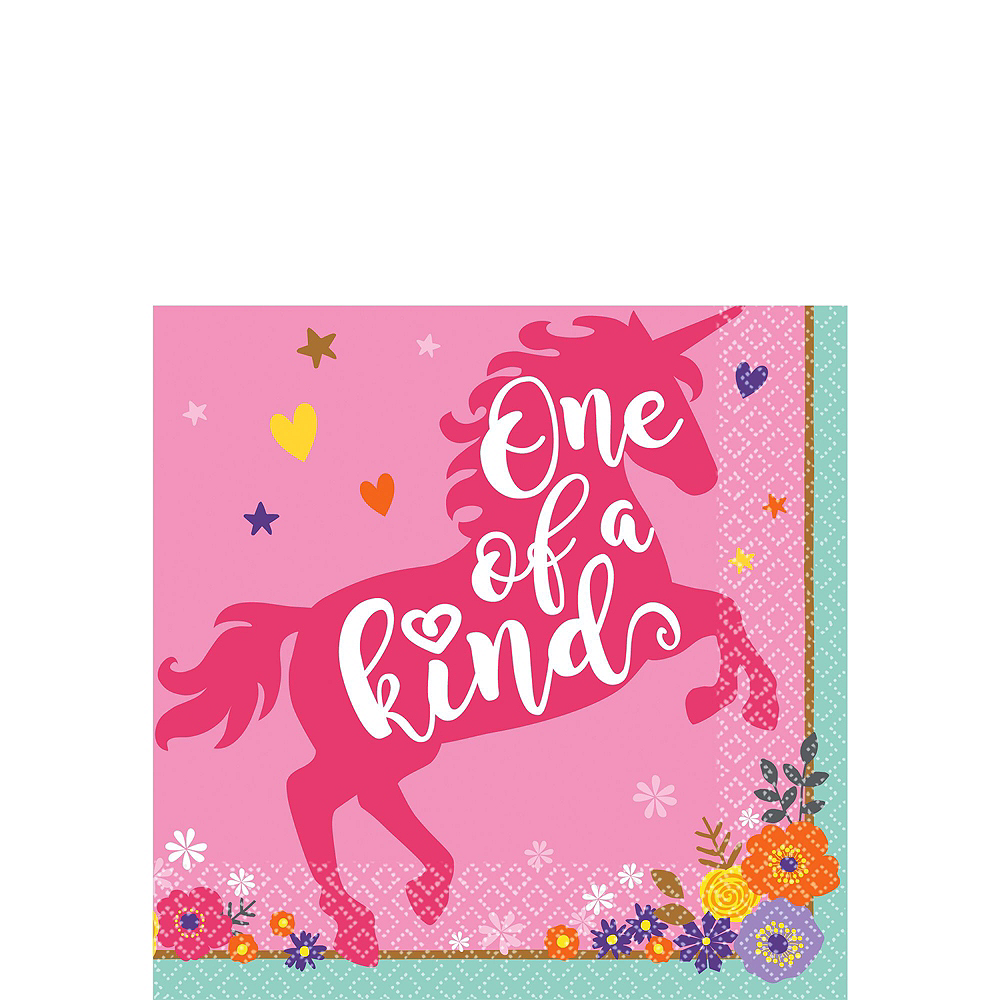 Magical Unicorn 1st Birthday Party Kit for 32 Guests Image #4