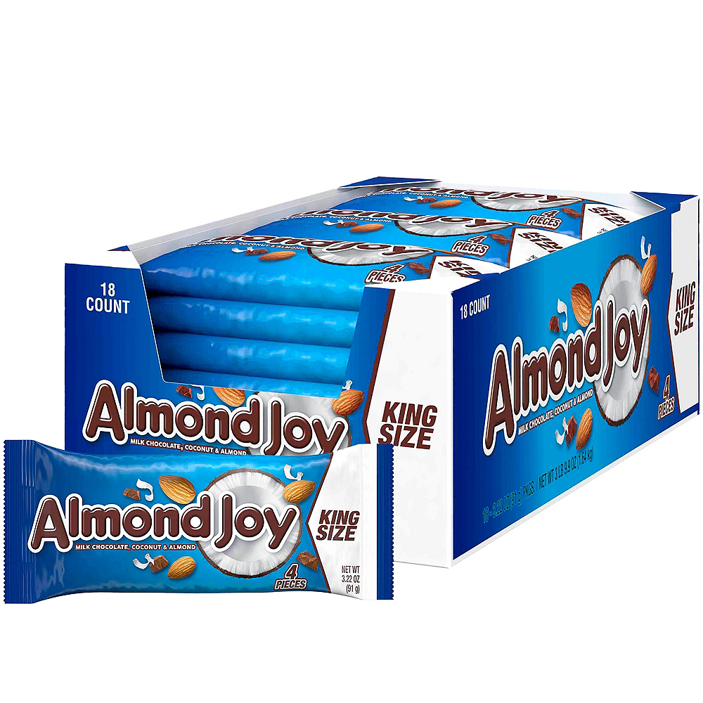 Milk Chocolate King Size Almond Joy Bars 18ct Image #1