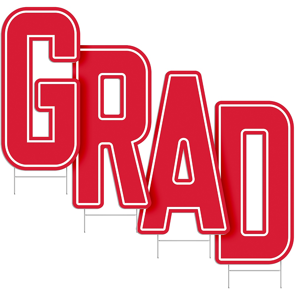 Red Grad Letter Outdoor Sign Kit Image #2