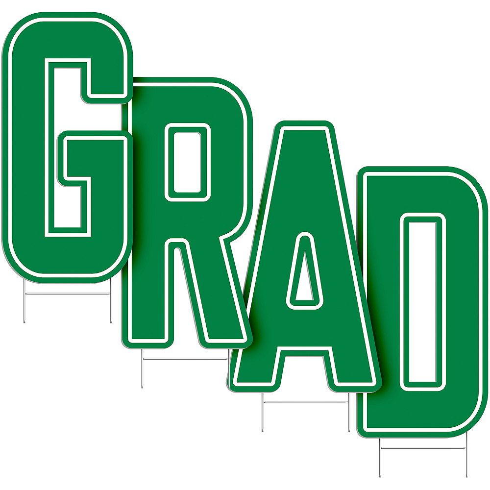 Green Grad Letter Outdoor Sign Kit Image #2