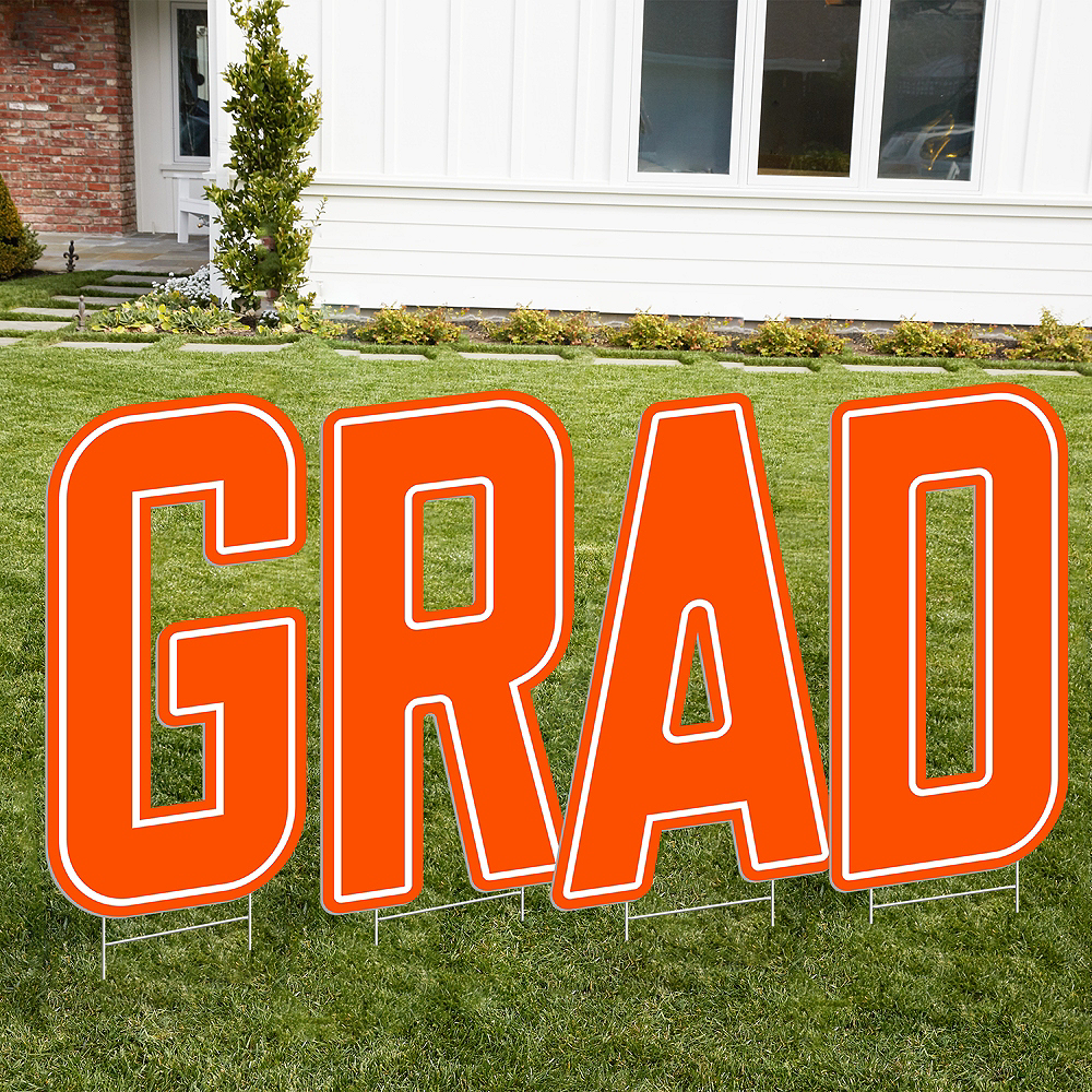 Orange Grad Letter Outdoor Sign Kit Image #1