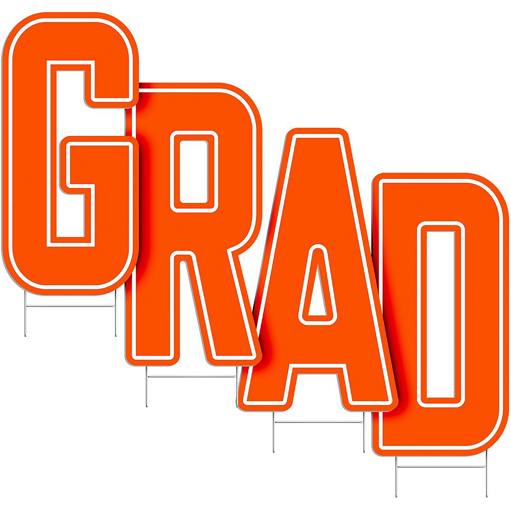 Orange Grad Letter Outdoor Sign Kit Image #2