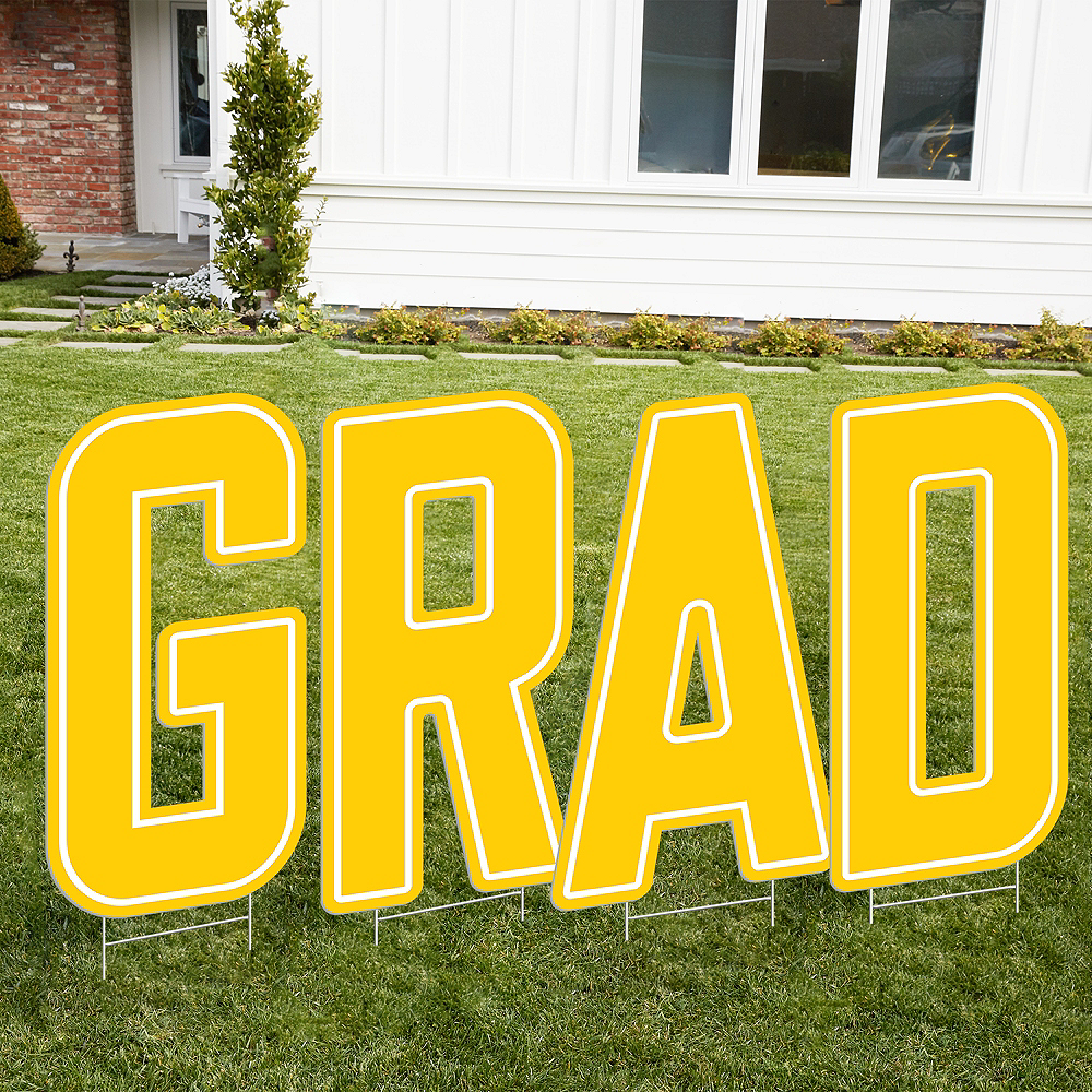 Yellow Grad Letter Outdoor Sign Kit Image #1