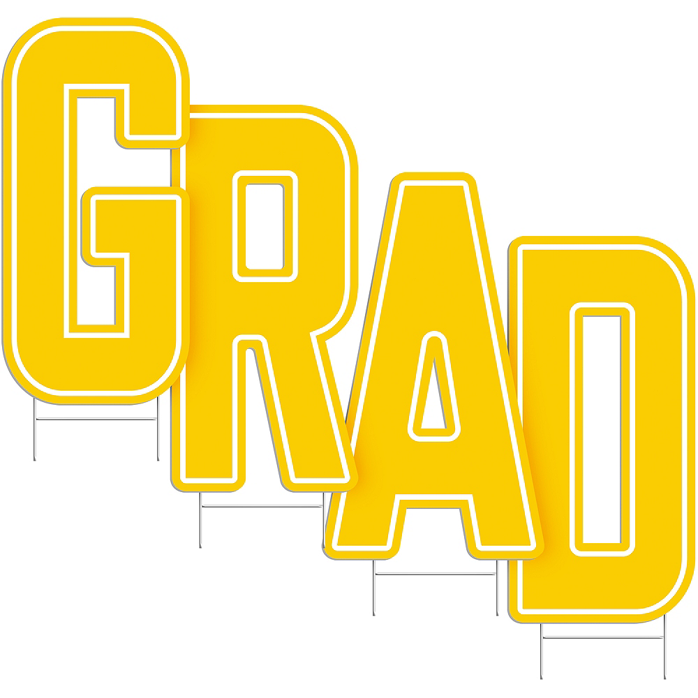 Yellow Grad Letter Outdoor Sign Kit Image #2
