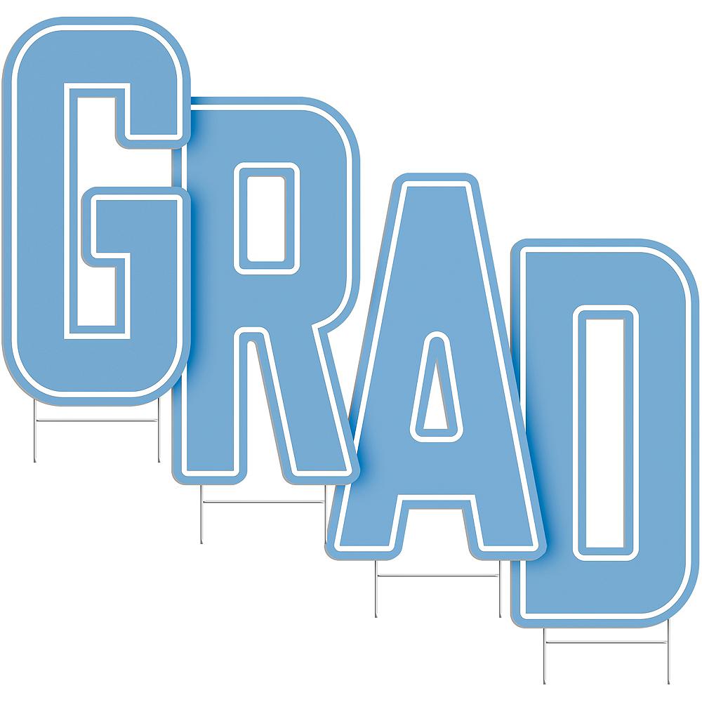 Pastel Blue Grad Letter Outdoor Sign Kit Image #2