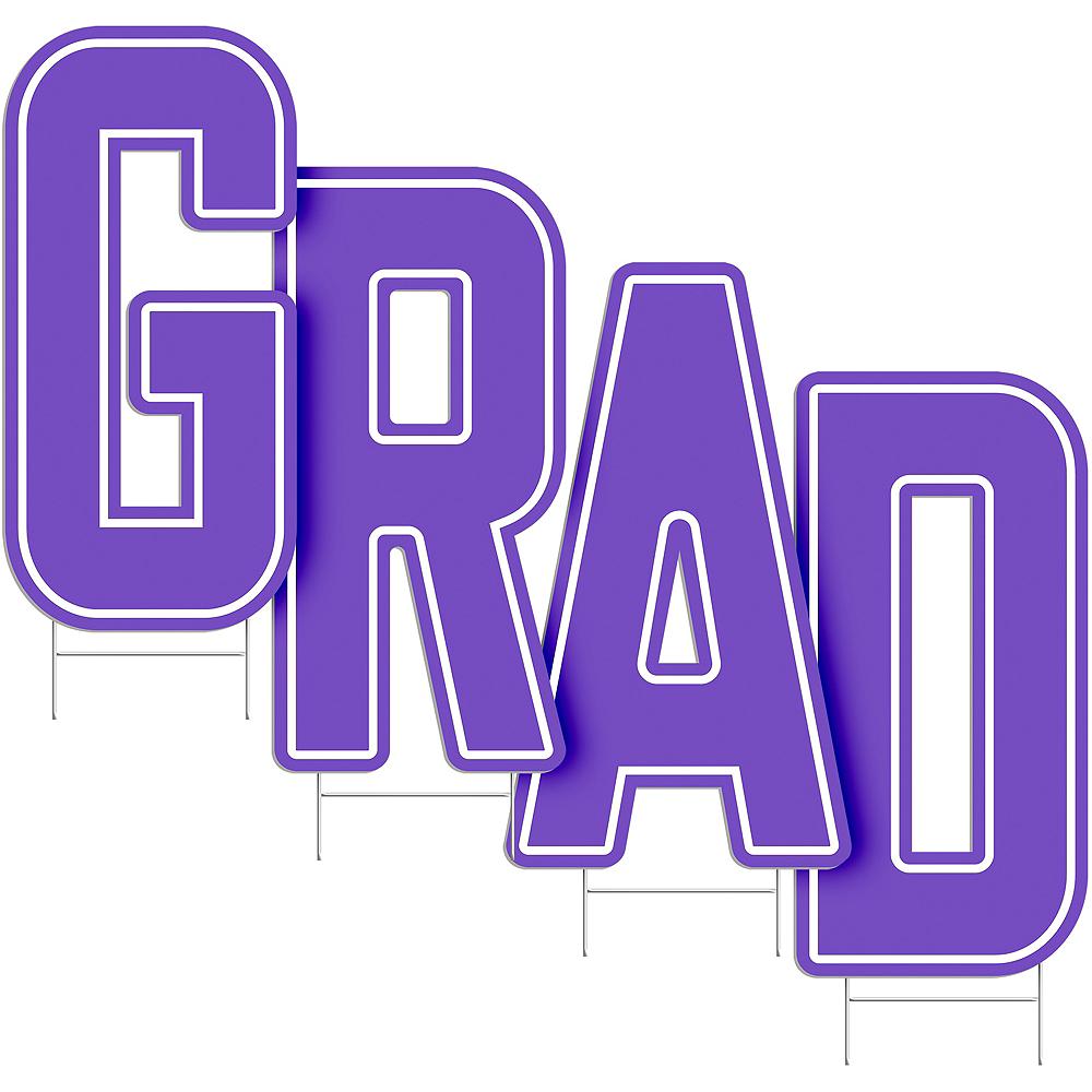 Purple Grad Letter Outdoor Sign Kit Image #2