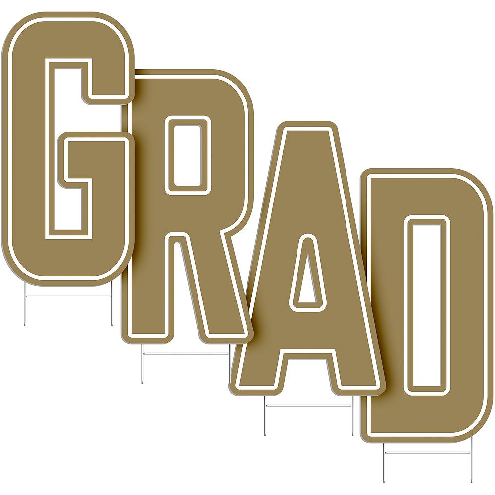 Gold Grad Letter Outdoor Sign Kit Image #2
