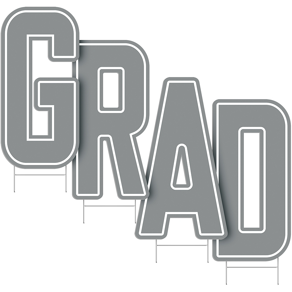 Silver Grad Letter Outdoor Sign Kit Image #2