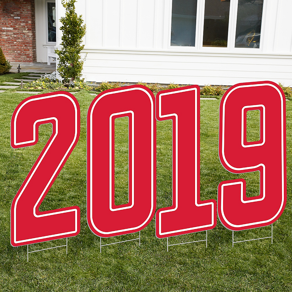 Giant Red 2019 Number Outdoor Sign Kit Image #1