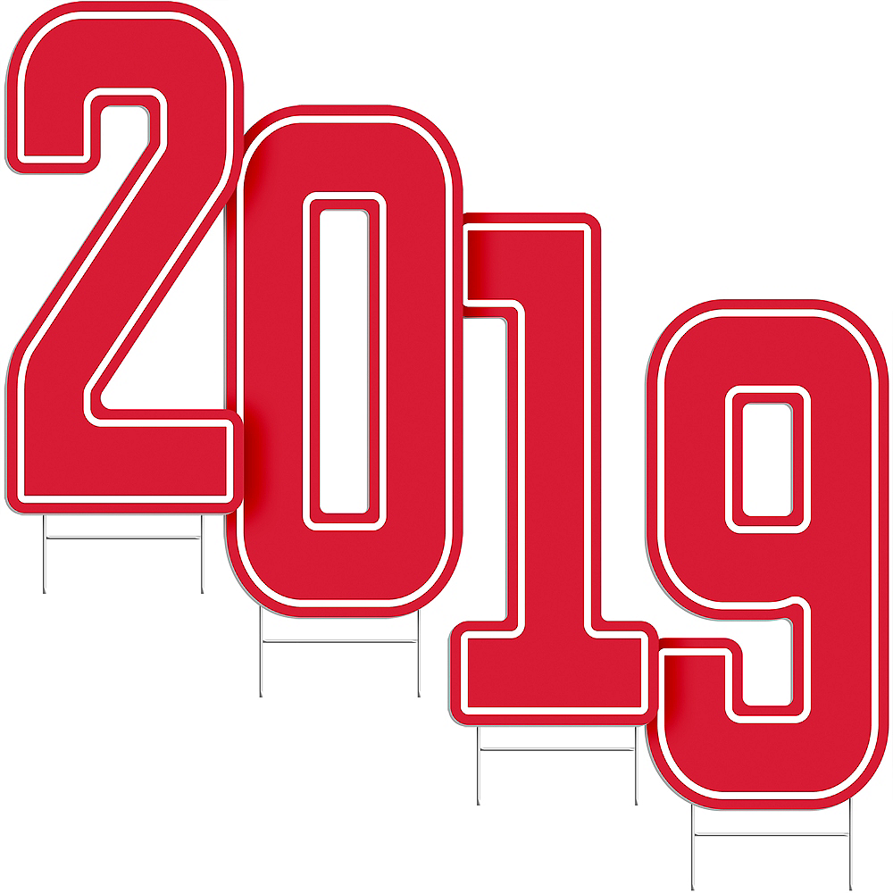 Giant Red 2019 Number Outdoor Sign Kit Image #2