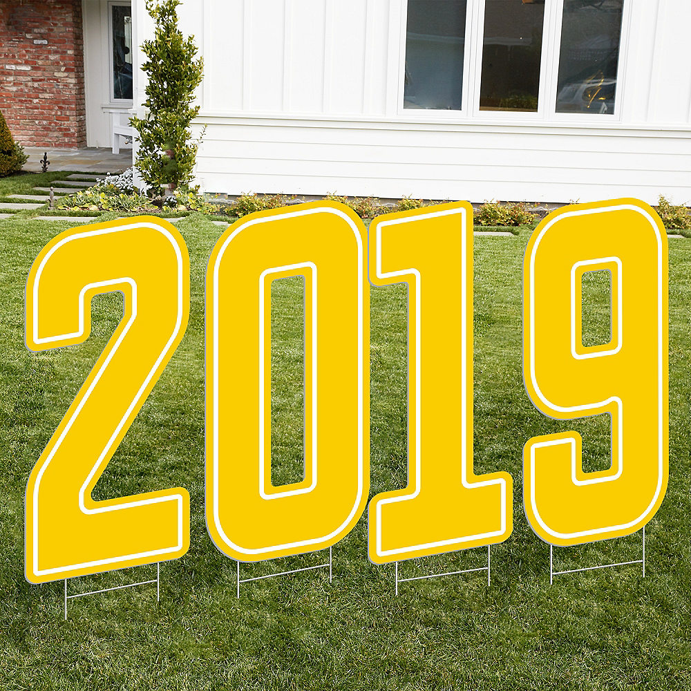Giant Yellow 2019 Number Outdoor Sign Kit Image #1