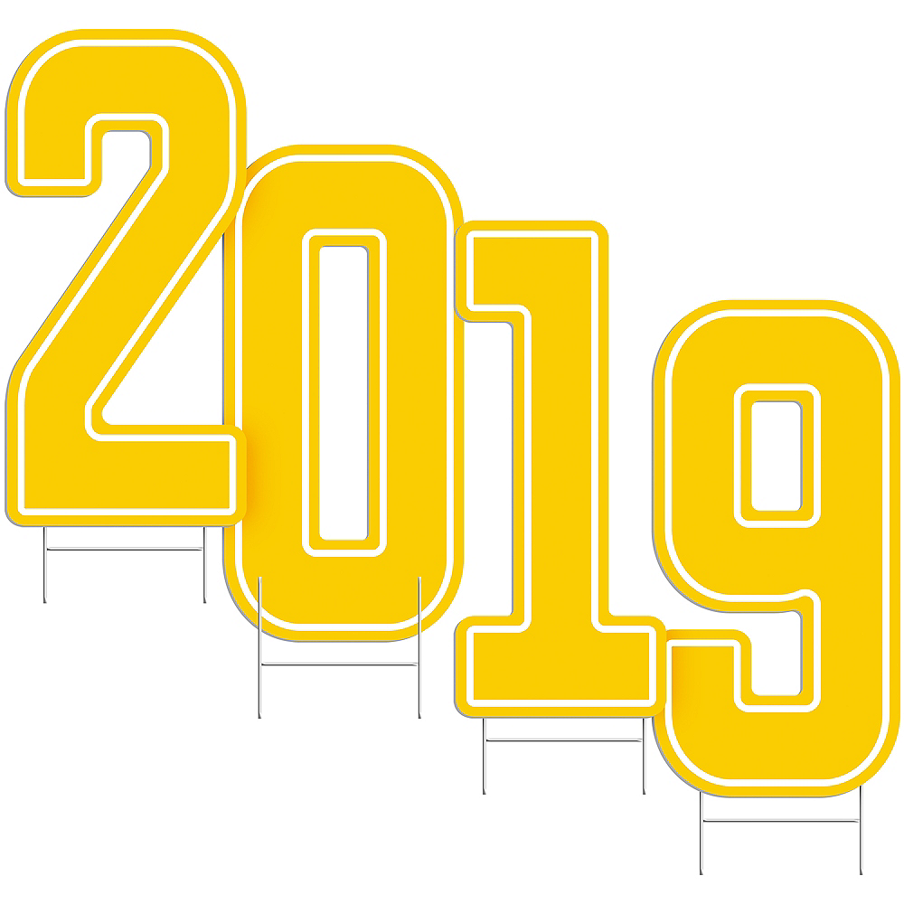 Giant Yellow 2019 Number Outdoor Sign Kit Image #2