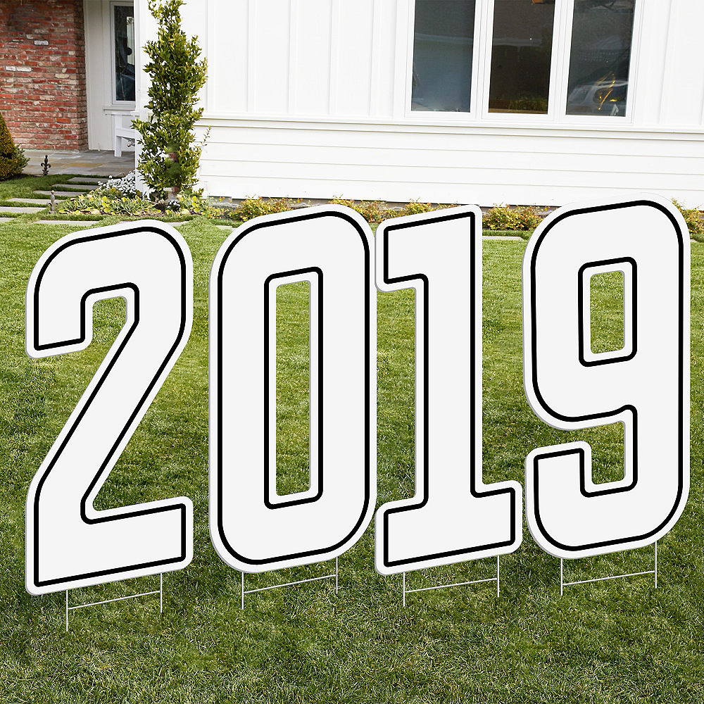 Giant White 2019 Number Outdoor Sign Kit Image #1