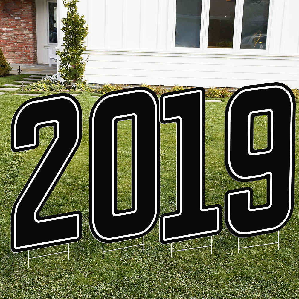 Giant Black 2019 Number Outdoor Sign Kit Image #1