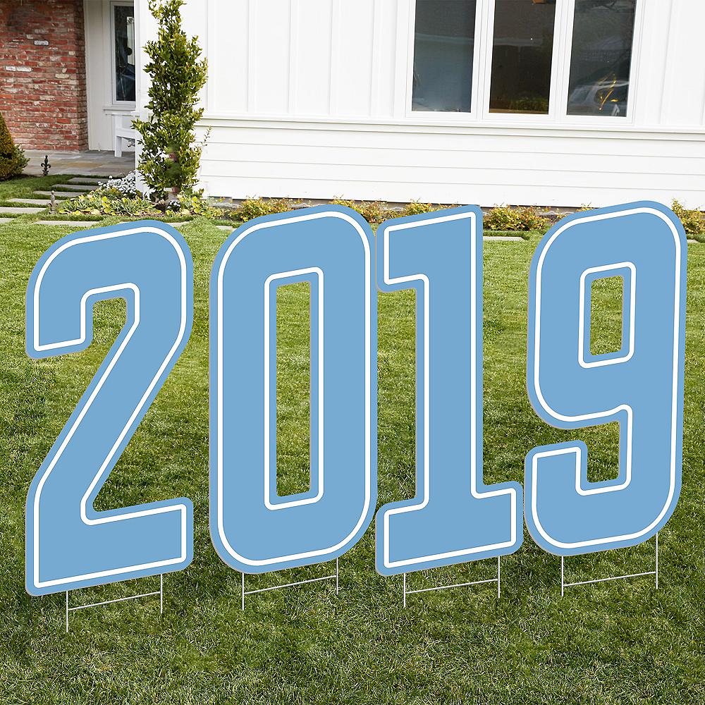 Giant Pastel Blue 2019 Number Outdoor Sign Kit Image #1